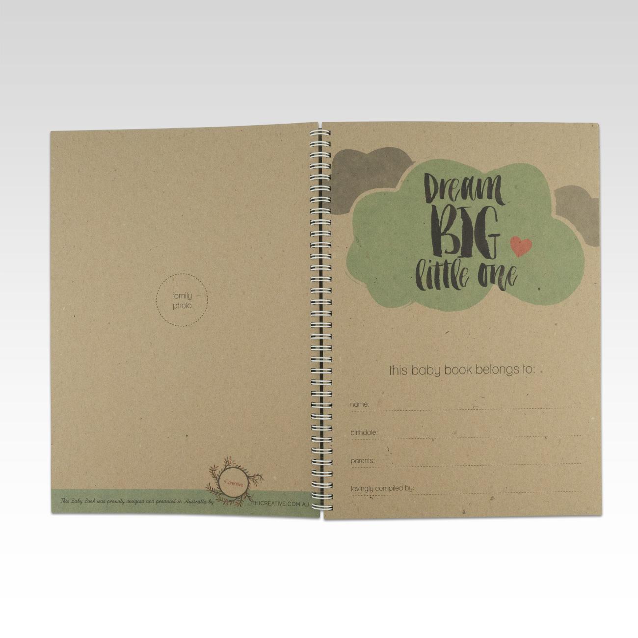 Rhicreative Grandchild Memory Record Book Keepsake Baby Child Gift Keepsakes, Memory Books Baby