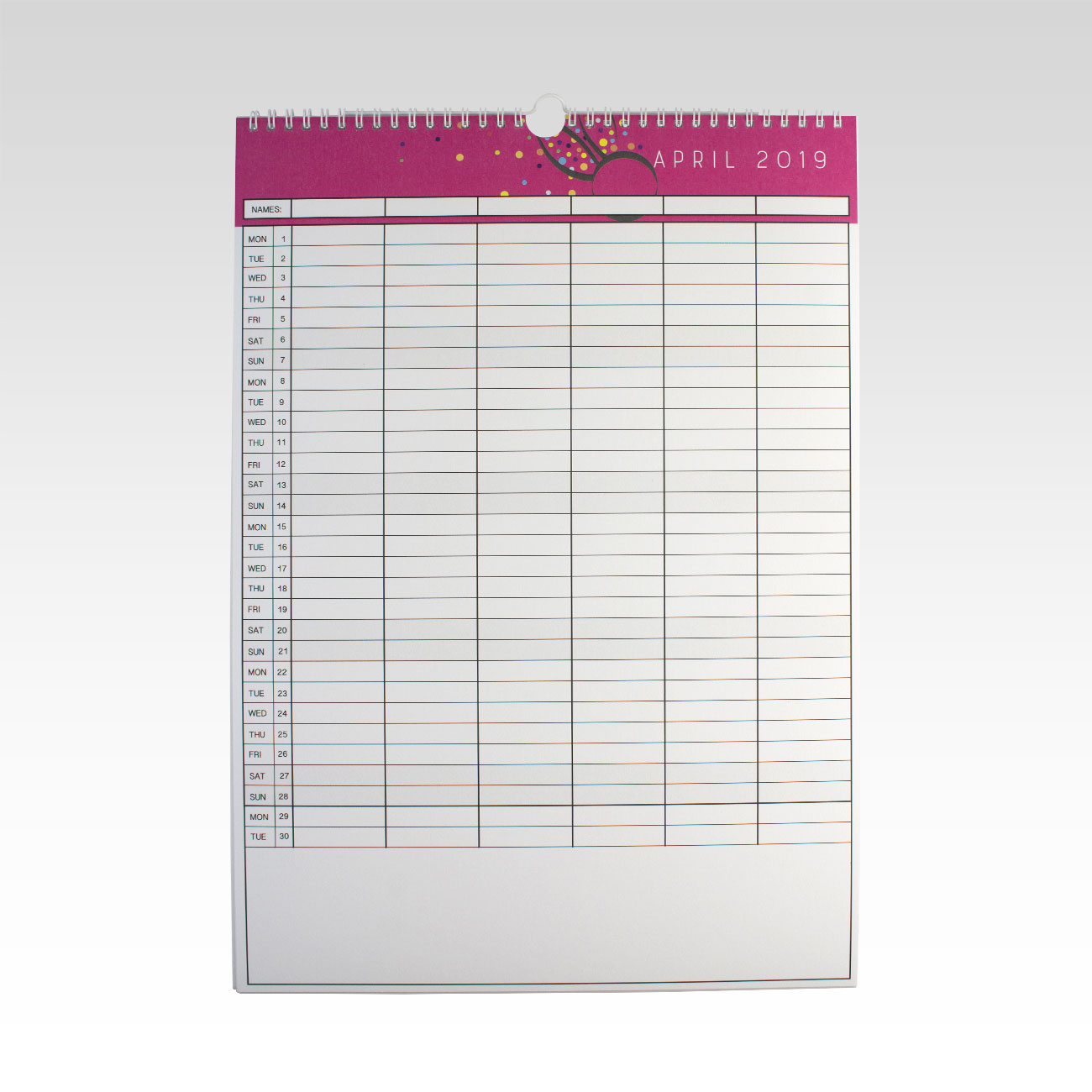 picture regarding Family Planner Calendar identified as 2019 Relatives Planner Calendar