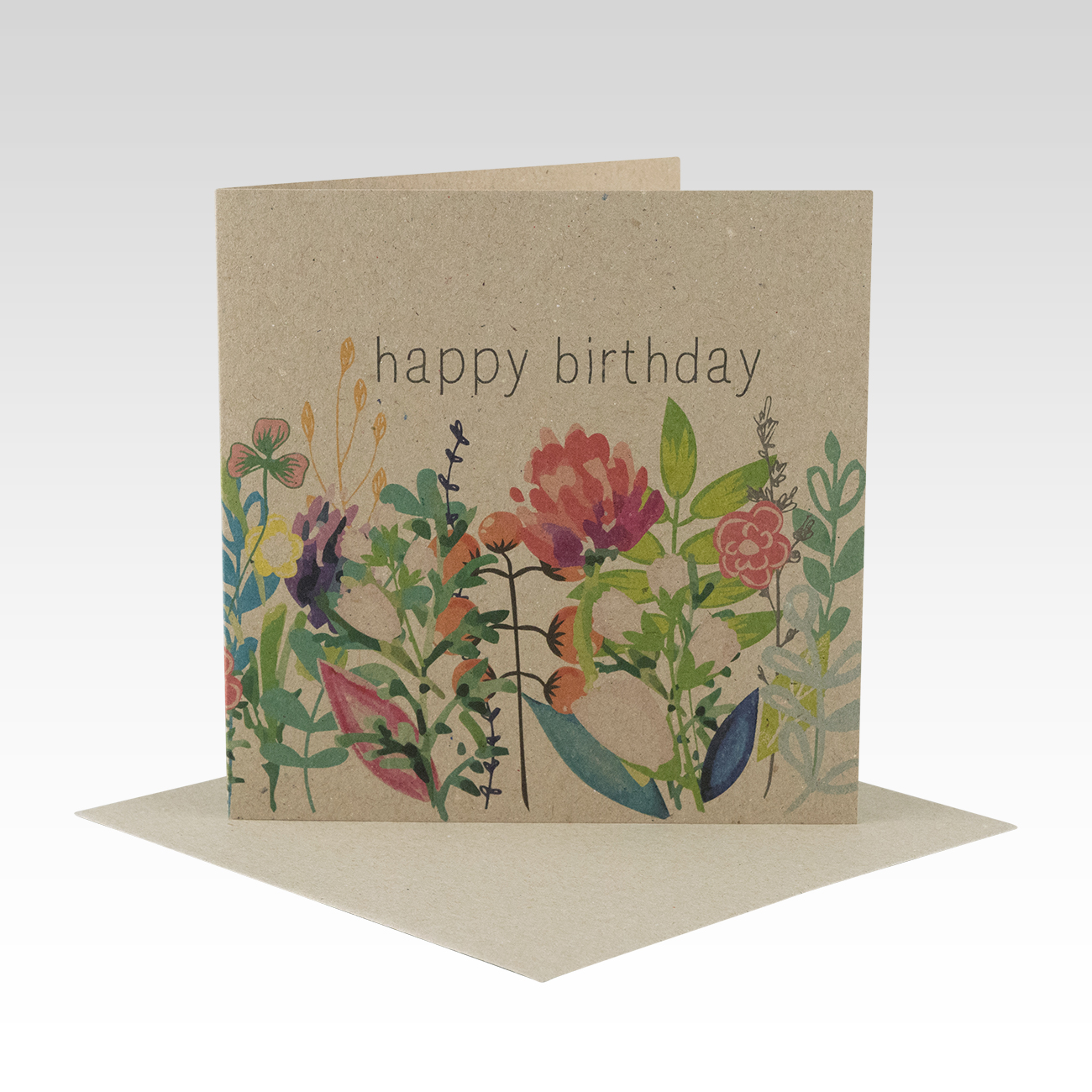 HB052 Floral Birthday Card