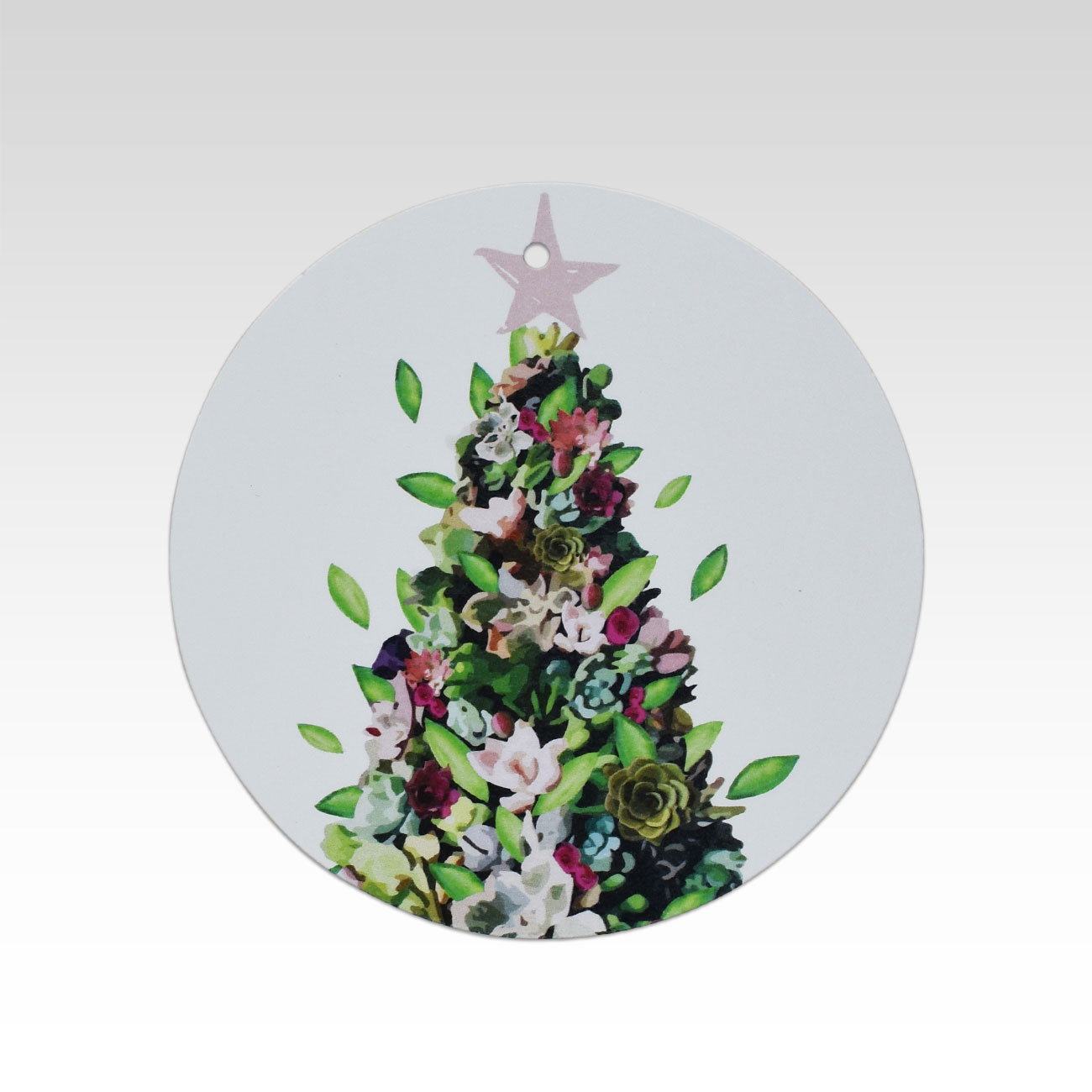 Tag056 Succulent Christmas Tree Gift Tag Sold Out Rhicreative